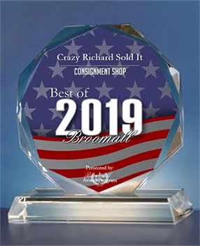 Crazy Richard 2019 Best Local Consignment Shop Award